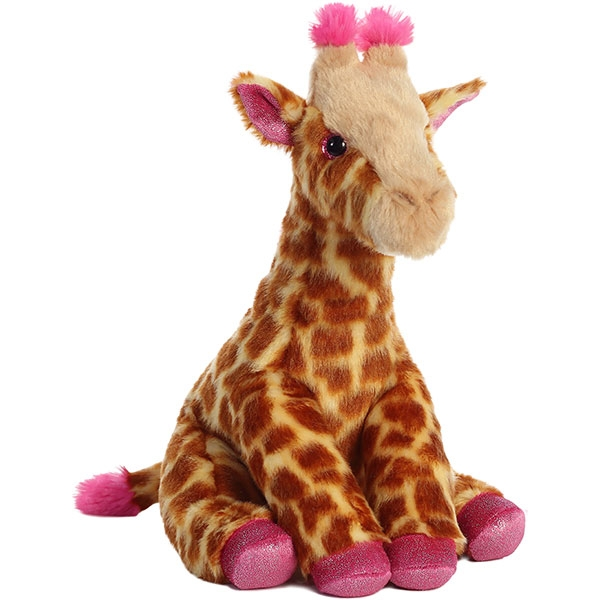 GIRAFFE WITH  PINK ACCENT PLUSH