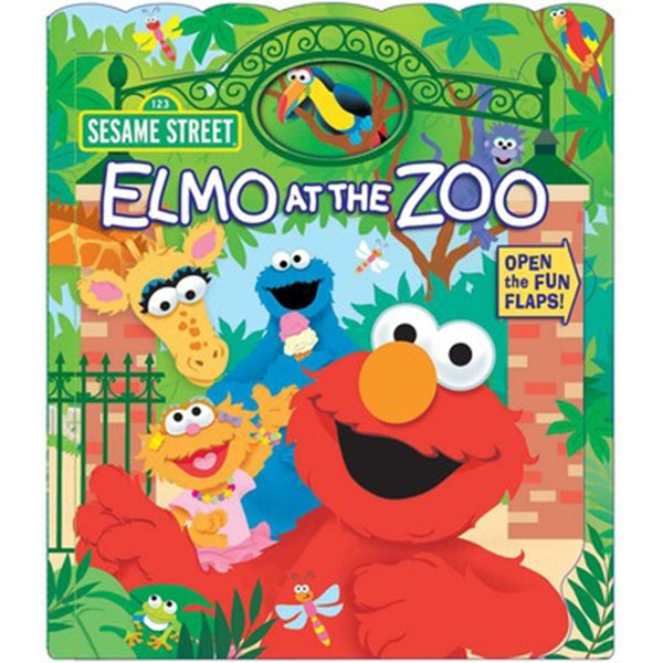 ELMO AT THE  ZOO BOARD BOOK