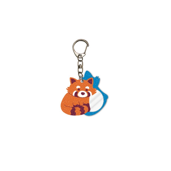 RED PANDA KEY CHAIN & MIRROR