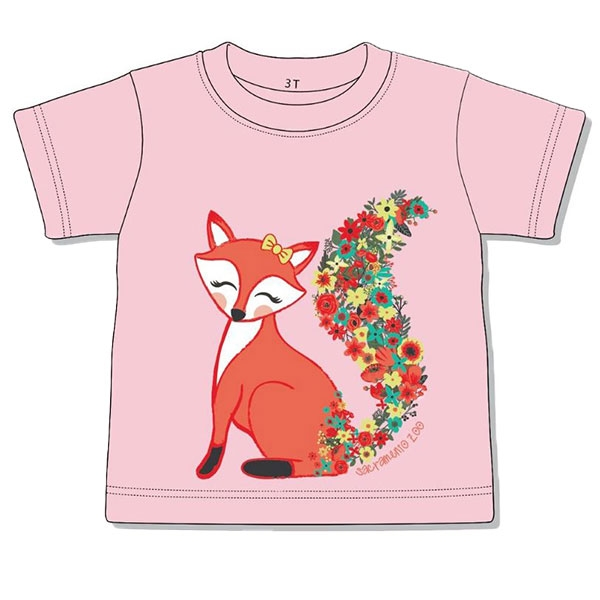 TODDLER TEE FOX FLORAL