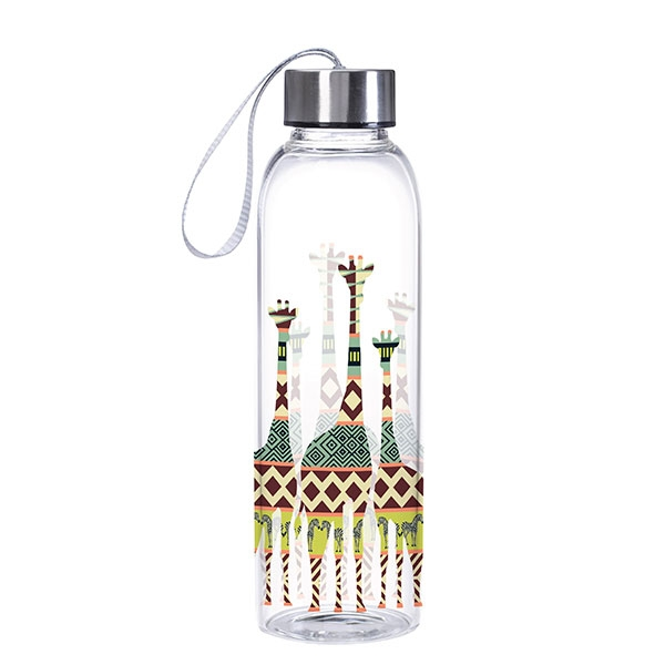 GIRAFFE GLASS WATER BOTTLE