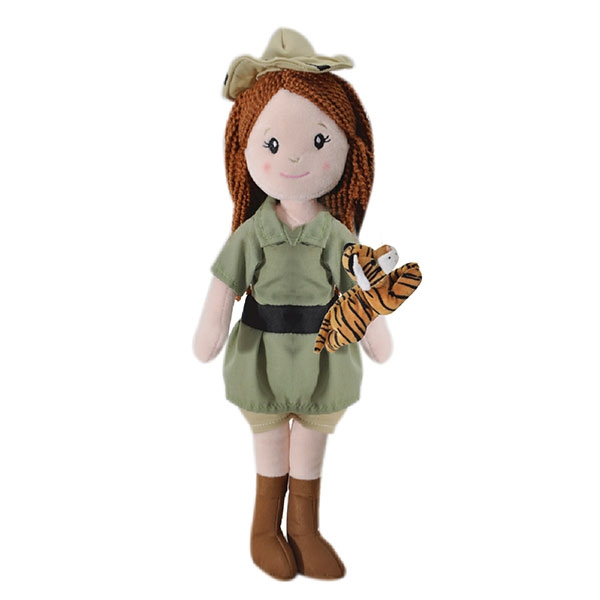 ZOOKEEPER DOLL WITH GIRAFFE TIGER