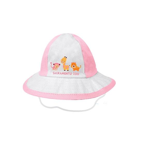 INFANT TENNIS HAT ANIMAL PINK M/L