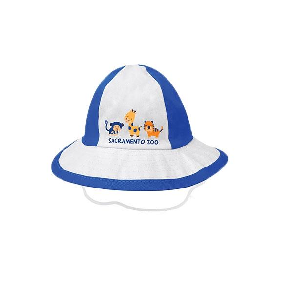 INFANT TENNIS HAT ANIMAL BLUE XS/S