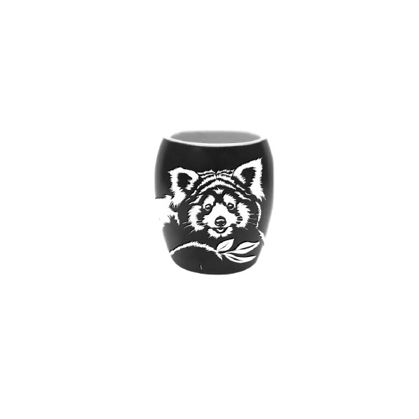 RED PANDA ETCH SHOT GLASS