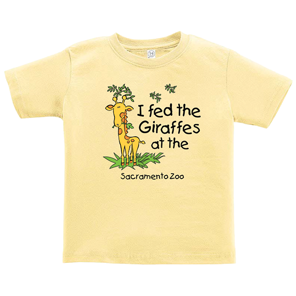 I FED THE GIRAFFE TODDLER TEE SHIRT
